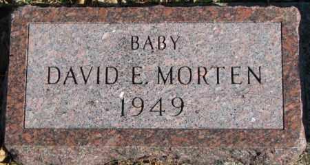 MORTEN, DAVID E. - Cedar County, Nebraska | DAVID E. MORTEN - Nebraska Gravestone Photos