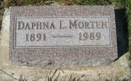 MORTEN, DAPHNA L. - Cedar County, Nebraska | DAPHNA L. MORTEN - Nebraska Gravestone Photos