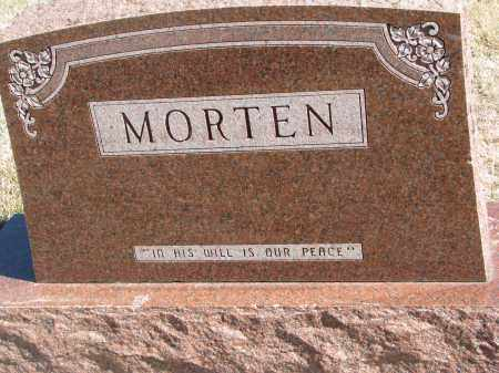MORTEN, FAMILY STONE - Cedar County, Nebraska | FAMILY STONE MORTEN - Nebraska Gravestone Photos