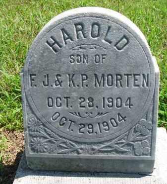 MORTEN, HAROLD - Cedar County, Nebraska   HAROLD MORTEN - Nebraska Gravestone Photos
