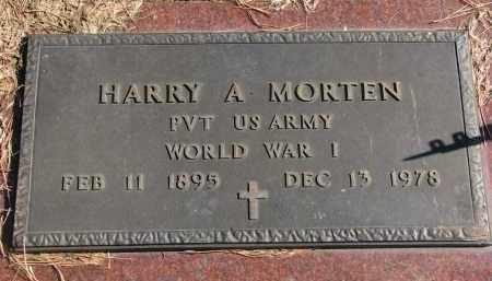 MORTEN, HARRY A. (WW I) - Cedar County, Nebraska   HARRY A. (WW I) MORTEN - Nebraska Gravestone Photos
