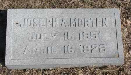 MORTEN, JOSEPH A. - Cedar County, Nebraska | JOSEPH A. MORTEN - Nebraska Gravestone Photos