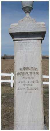 MORTEN, SARAH - Cedar County, Nebraska | SARAH MORTEN - Nebraska Gravestone Photos