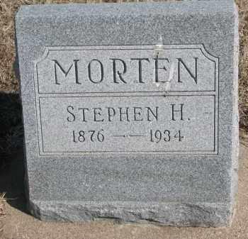 MORTEN, STEPHEN H. - Cedar County, Nebraska | STEPHEN H. MORTEN - Nebraska Gravestone Photos