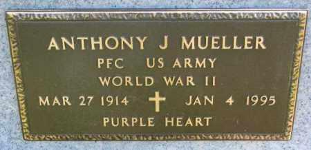 MUELLER, ANTHONY J. (WW II) - Cedar County, Nebraska | ANTHONY J. (WW II) MUELLER - Nebraska Gravestone Photos