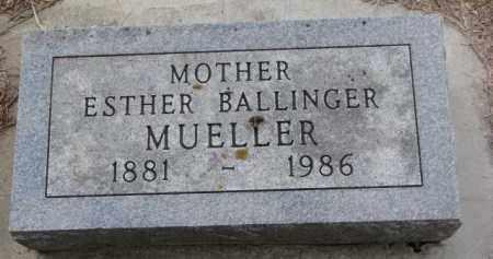 MUELLER, ESTHER - Cedar County, Nebraska | ESTHER MUELLER - Nebraska Gravestone Photos