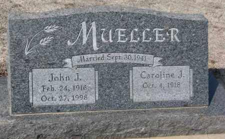 MUELLER, CAROLINE J. - Cedar County, Nebraska   CAROLINE J. MUELLER - Nebraska Gravestone Photos