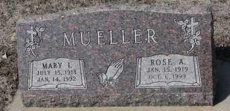 MUELLER, ROSE A. - Cedar County, Nebraska | ROSE A. MUELLER - Nebraska Gravestone Photos