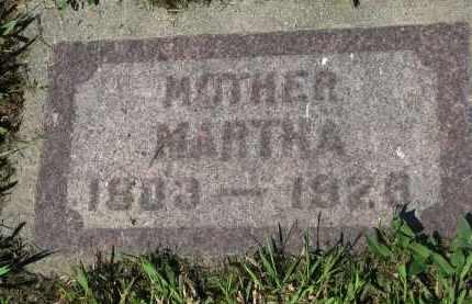 MUELLER, MARTHA - Cedar County, Nebraska   MARTHA MUELLER - Nebraska Gravestone Photos