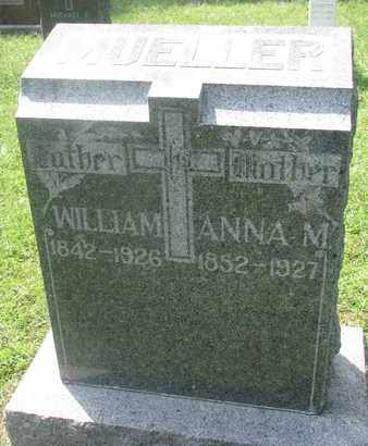 MUELLER, WILLIAM - Cedar County, Nebraska | WILLIAM MUELLER - Nebraska Gravestone Photos
