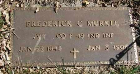 MURKLE, FREDERICK C. (MILITARY) - Cedar County, Nebraska | FREDERICK C. (MILITARY) MURKLE - Nebraska Gravestone Photos