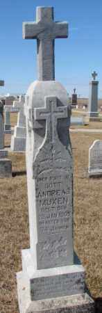 MUXEN, ANDREAS - Cedar County, Nebraska   ANDREAS MUXEN - Nebraska Gravestone Photos