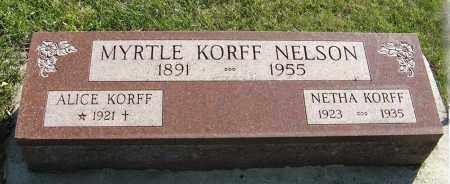 KORFF, NETHA - Cedar County, Nebraska | NETHA KORFF - Nebraska Gravestone Photos