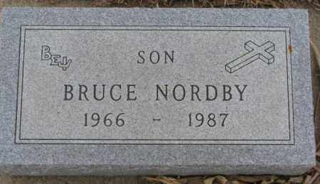 NORDBY, BRUCE - Cedar County, Nebraska   BRUCE NORDBY - Nebraska Gravestone Photos