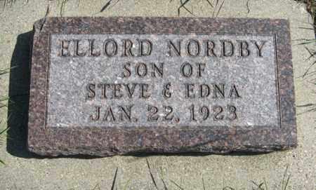 NORDBY, ELLORD - Cedar County, Nebraska | ELLORD NORDBY - Nebraska Gravestone Photos