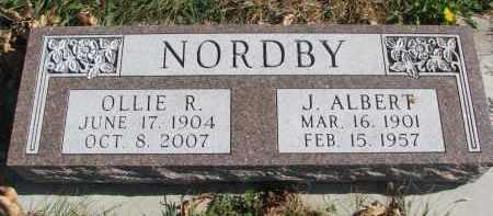 NORDBY, J. ALBERT - Cedar County, Nebraska   J. ALBERT NORDBY - Nebraska Gravestone Photos