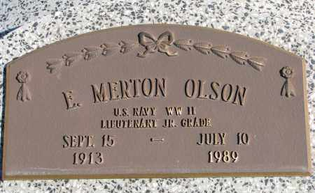 OLSON, E. MERTON - Cedar County, Nebraska | E. MERTON OLSON - Nebraska Gravestone Photos