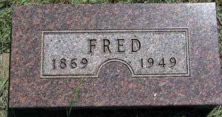 OLSON, FRED - Cedar County, Nebraska | FRED OLSON - Nebraska Gravestone Photos