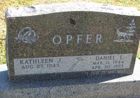 OPFER, KATHLEEN J. - Cedar County, Nebraska | KATHLEEN J. OPFER - Nebraska Gravestone Photos