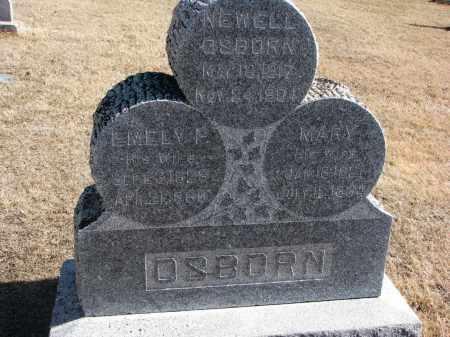 OSBORN, EMELY F. - Cedar County, Nebraska | EMELY F. OSBORN - Nebraska Gravestone Photos