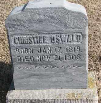 OSWALD, CHRISTINE - Cedar County, Nebraska | CHRISTINE OSWALD - Nebraska Gravestone Photos