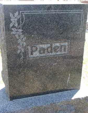 PADEN, FAMILY STONE - Cedar County, Nebraska | FAMILY STONE PADEN - Nebraska Gravestone Photos