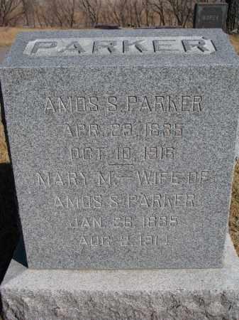 PARKER, AMOS S. - Cedar County, Nebraska | AMOS S. PARKER - Nebraska Gravestone Photos