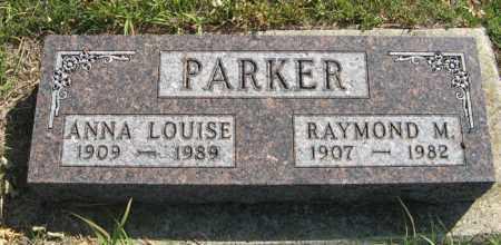 PARKER, ANNA LOUISE - Cedar County, Nebraska   ANNA LOUISE PARKER - Nebraska Gravestone Photos