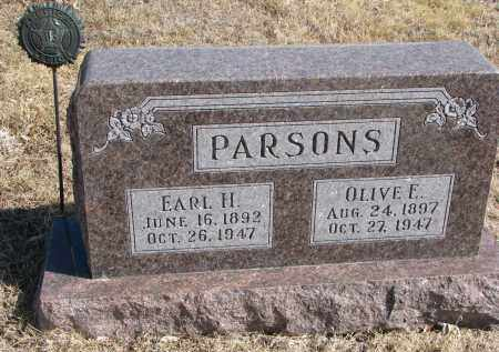 PARSONS, OLIVE E. - Cedar County, Nebraska | OLIVE E. PARSONS - Nebraska Gravestone Photos