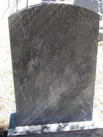 PARSONS, JAMES M. - Cedar County, Nebraska | JAMES M. PARSONS - Nebraska Gravestone Photos