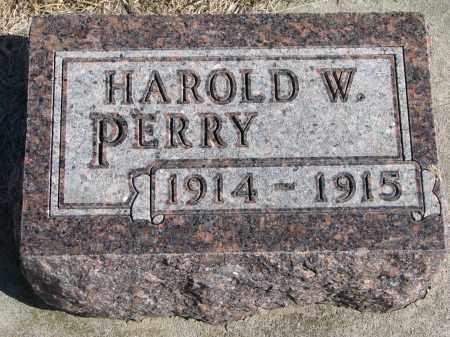 PERRY, HAROLD W. - Cedar County, Nebraska | HAROLD W. PERRY - Nebraska Gravestone Photos