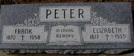 PETER, ELIZABETH - Cedar County, Nebraska | ELIZABETH PETER - Nebraska Gravestone Photos