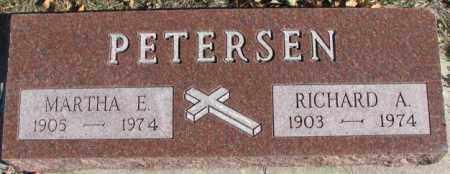 PETERSEN, MARTHA E. - Cedar County, Nebraska | MARTHA E. PETERSEN - Nebraska Gravestone Photos