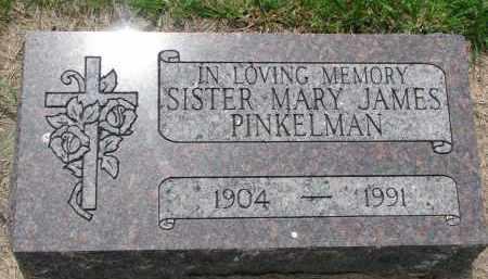 JAMES PINKELMAN, MARY - Cedar County, Nebraska   MARY JAMES PINKELMAN - Nebraska Gravestone Photos