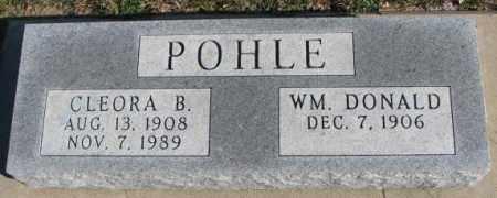 POHLE, CLEORA B. - Cedar County, Nebraska | CLEORA B. POHLE - Nebraska Gravestone Photos