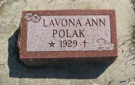 POLAK, LAVONA ANN - Cedar County, Nebraska   LAVONA ANN POLAK - Nebraska Gravestone Photos