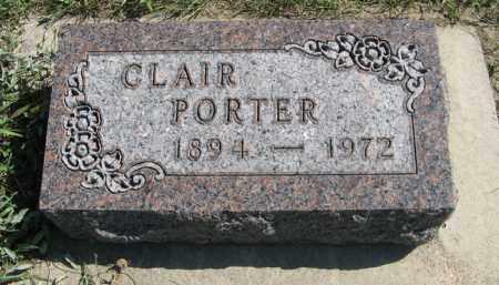 PORTER, CLAIR - Cedar County, Nebraska | CLAIR PORTER - Nebraska Gravestone Photos