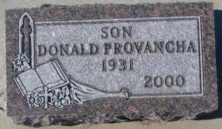 PROVANCHA, DONALD - Cedar County, Nebraska   DONALD PROVANCHA - Nebraska Gravestone Photos