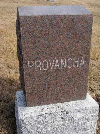 PROVANCHA, FAMILY STONE - Cedar County, Nebraska   FAMILY STONE PROVANCHA - Nebraska Gravestone Photos