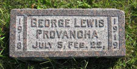 PROVANCHA, GEORGE LEWIS - Cedar County, Nebraska | GEORGE LEWIS PROVANCHA - Nebraska Gravestone Photos