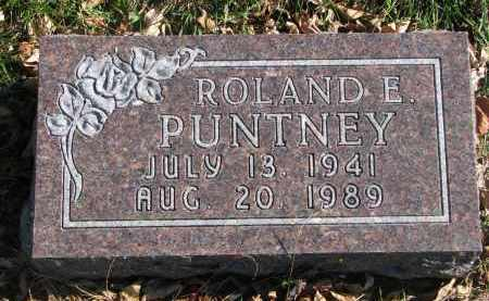 PUNTNEY, ROLAND E. - Cedar County, Nebraska   ROLAND E. PUNTNEY - Nebraska Gravestone Photos