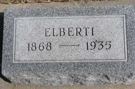 READY, ELBERTI - Cedar County, Nebraska   ELBERTI READY - Nebraska Gravestone Photos