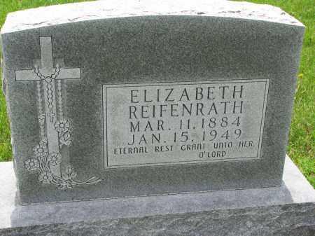 REIFENRATH, ELIZABETH - Cedar County, Nebraska | ELIZABETH REIFENRATH - Nebraska Gravestone Photos