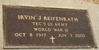 REIFENRATH, IRVIN J - Cedar County, Nebraska | IRVIN J REIFENRATH - Nebraska Gravestone Photos