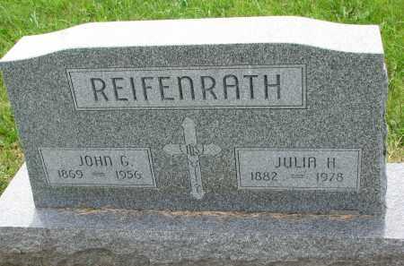 REIFENRATH, JOHN G. - Cedar County, Nebraska | JOHN G. REIFENRATH - Nebraska Gravestone Photos