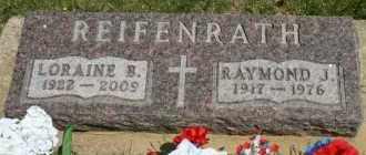 REIFENRATH, LORAINE B - Cedar County, Nebraska | LORAINE B REIFENRATH - Nebraska Gravestone Photos