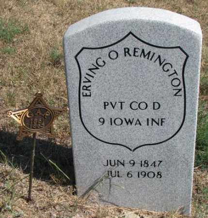 REMINGTON, ERVING O. - Cedar County, Nebraska | ERVING O. REMINGTON - Nebraska Gravestone Photos