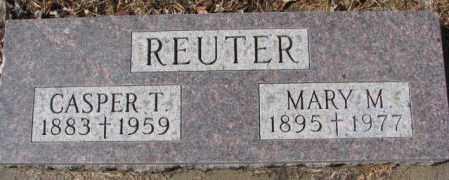 REUTER, MARY M. - Cedar County, Nebraska | MARY M. REUTER - Nebraska Gravestone Photos