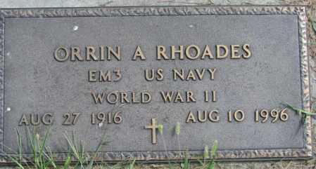 RHOADES, ORRIN A. (WW II MARKER) - Cedar County, Nebraska | ORRIN A. (WW II MARKER) RHOADES - Nebraska Gravestone Photos