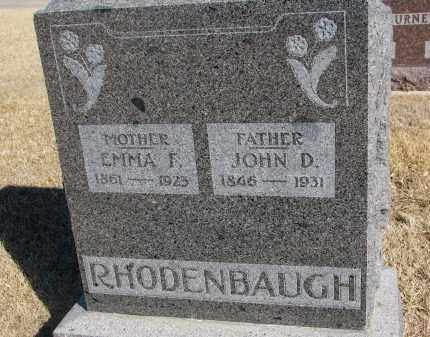 RHODENBAUGH, EMMA F. - Cedar County, Nebraska | EMMA F. RHODENBAUGH - Nebraska Gravestone Photos